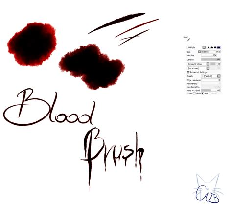 paint tool sai blood tutorial 21 paint tool sai brush blood brush by catbrushes on