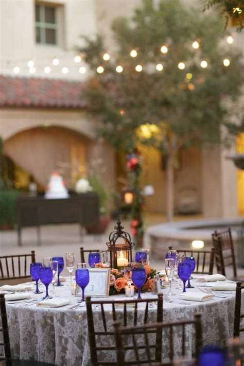 A Cobalt Blue Spanish Inspired Wedding   Lantern