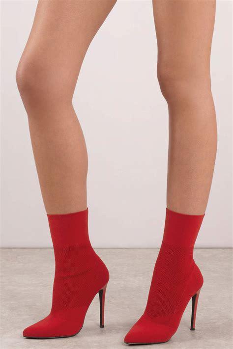 sock boots rubi shoes steve madden century heeled sock booties tobi