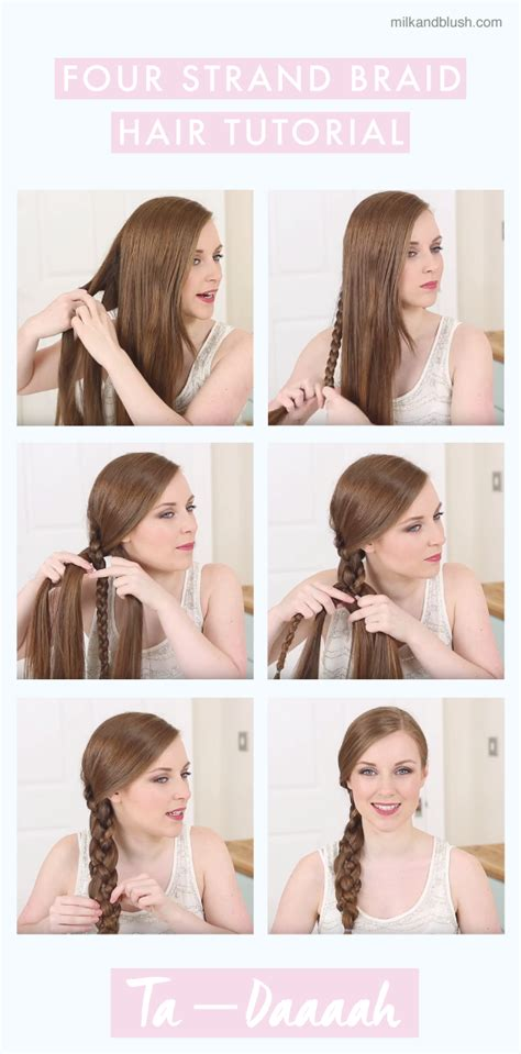 show a picture of pigtail braids wrestling guide how to four strand braid tutorial hair extensions blog