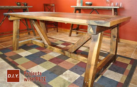 How To Make A Rustic Table by How To Build A Rustic And Bold Farm Table