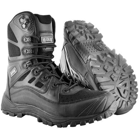 Magnum Light Speed High Boots Black 1 magnum lightspeed 8 side zip boots at mil1st
