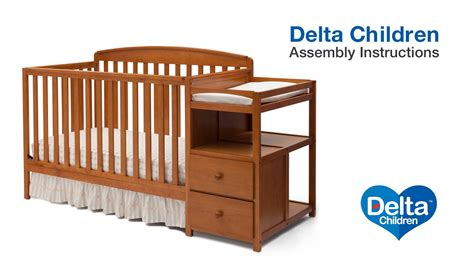 How To Convert 3 In 1 Crib To Toddler Bed Delta Children Royal 4 In 1 Crib N Changer Assembly