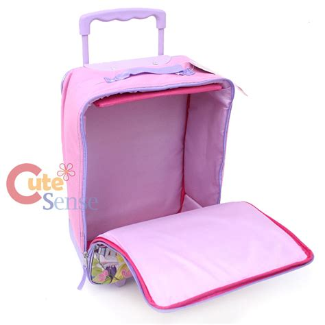disney princess rolling luggage soft padded suite case