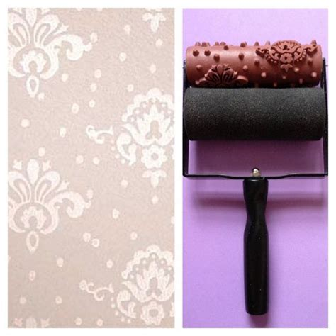 wallpaper paint roller patterned paint roller in petite damask design and