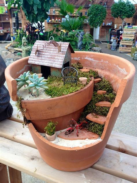 Pots In Gardens Ideas Best 25 Broken Pot Garden Ideas On Garden Pots Pots And The Broken Pots