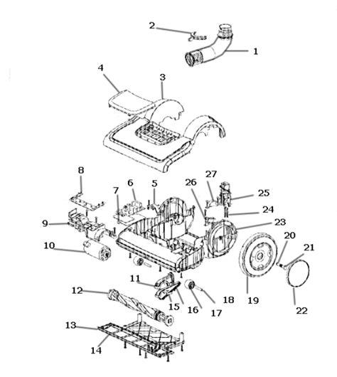 electrolux vacuum parts diagram electrolux el8505a vacuum parts