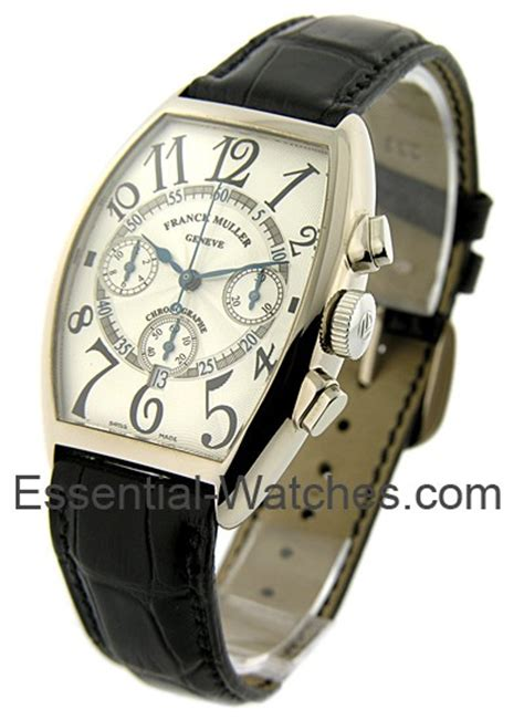 Frank Muller Black White Gold 5850 cc at franck muller chronograph steel essential watches