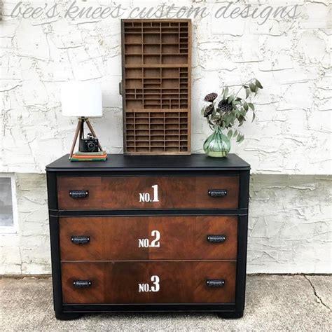 antique walnut gel stained dresser handsome numbered dresser in gel stain l black general finishes design center