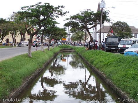 how many towns are there in guyana govt wants to cover city canals and make parking spots
