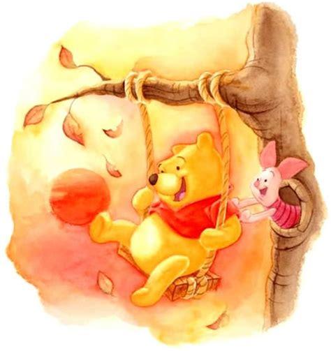 imagenes de winnie pooh y puerquito pintura de winnie pooh sobre columpio y puerquito