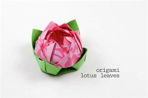 Origami Flower Leaves - origami lotus leaf tutorial