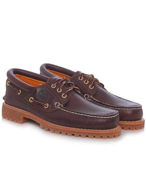 boat shoes joules timberland brown leather 3 eye boat shoes jules b