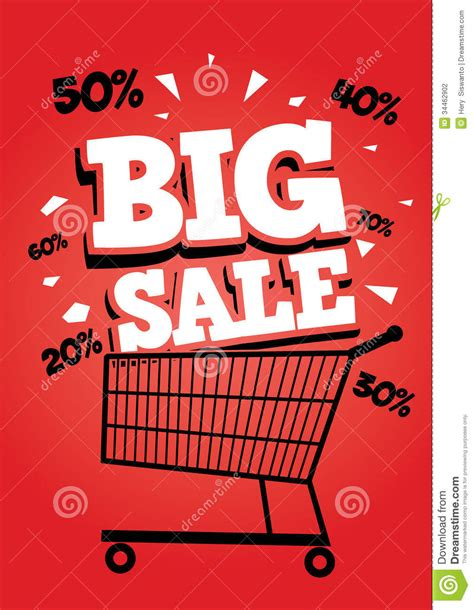 big sale poster stock photography image 34462902