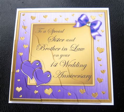 1st wedding anniversary gift for sister sister brother in law 1st wedding anniversary card 4
