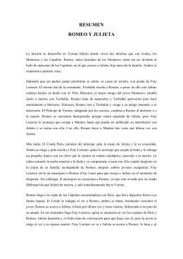 """Control de Lectura Mensual """"ROMEO Y JULIETA"""""""