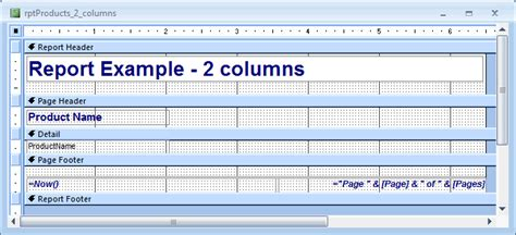2007 Collections Report 2 by Ms Access 2007 Create A 2 Column Report