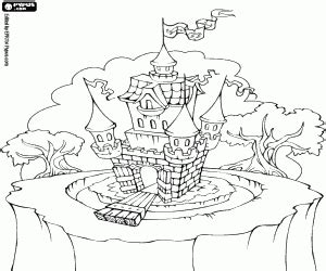 castle moat coloring page castle with water moat coloring page printable game