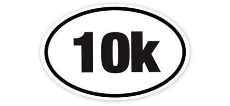 To 10k by 10k 6x4 White Oval Sticker White Oval