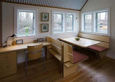tiny house dining table tiny house floating guest house in portland oregon