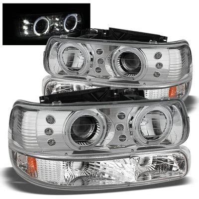 chevy silverado 1999 2002 chrome halo projector headlights and bumper lights a1030h4b213