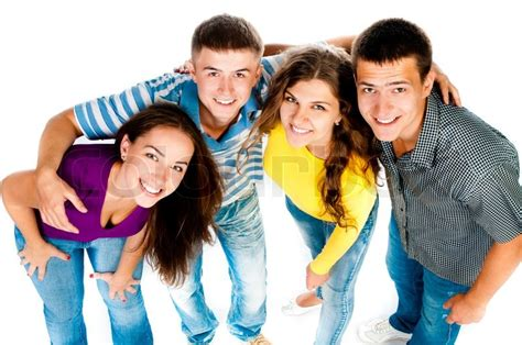 what is the meaning of young people who have a grey streaks group of young people stock photo colourbox
