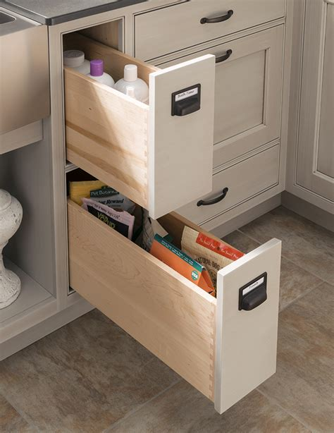 Sink Drawers by Narrow Sink Drawers Wood Mode Custom Cabinetry
