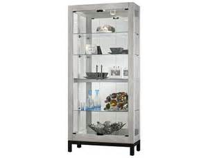 Curio Cabinets Slumberland Slumberland Brennen Collection Burnished Silver Curio
