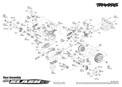 traxxas slash 4x4 parts diagram 1 16 slash 4x4 brushed 70054 rear traxxas