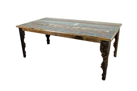 A Dining Table Rustic Dining Furniture Mexicali Distressed Finish Dining