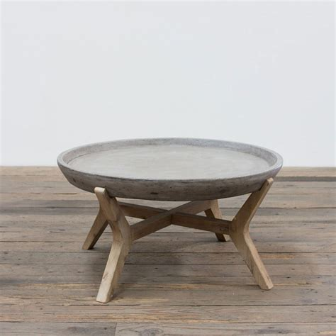 concrete and wood coffee table angelo home concrete and wood coffee table