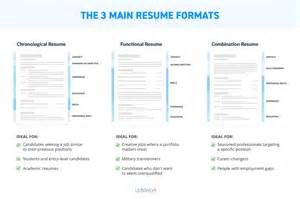 Work Resume Format by Resume Formats The Best One In 3 Steps Exles
