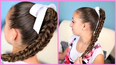 kids fishtail photo with hair added box four sided fishtail braid wear it down or up in a