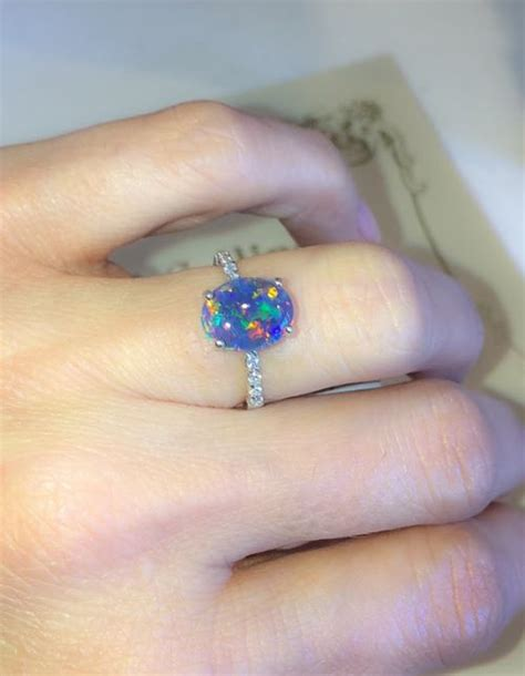 Wedding Rings With Opal by Opal Engagement Ring Engagement Rings Depot