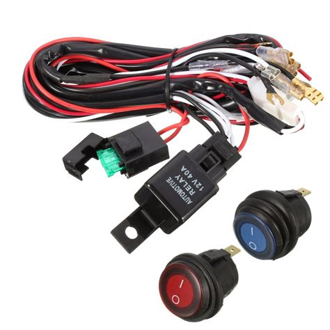 wiring harness for led light bar 40a 12v led light bar wiring harness relay on switch