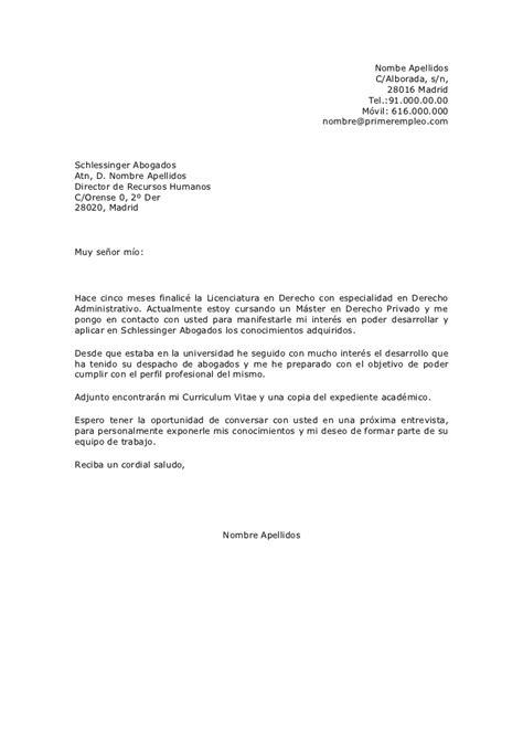 Modelo De Carta De Presentacion Que Acompaña Al Curriculum Vitae Carta De Presentaci 243 N De Candidatura Espont 225 Nea