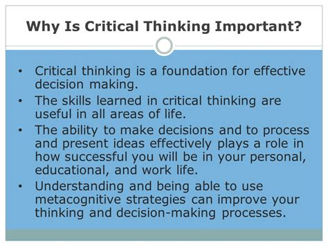 the critical mind make better decisions improve your judgment and think a step ahead of others books critical thinking course introduction and lesson 1 ppt