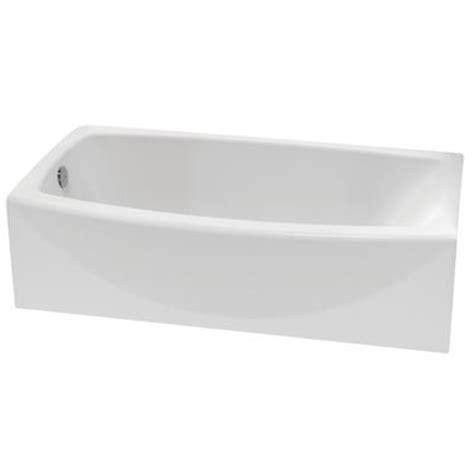 american standard bathtubs canada american standard cadet curved acrylic bath tub left