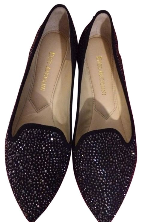 sparkly black flat shoes enzo angiolini black sparkle flats size 7 50 enzo