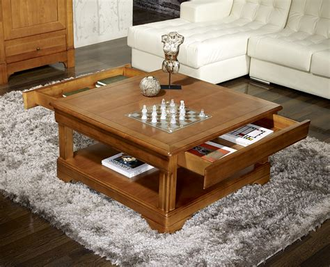 table basse carr 233 e en merisier de style louis philippe