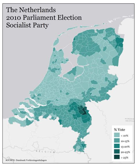 netherlands crime map mapping political power in the netherlands the daily viz