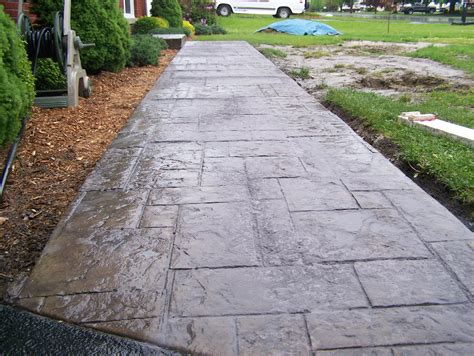 sted colored concrete sidewalk concrete pinterest