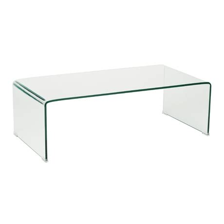 ghost coffee table rectangle clear glass lounge