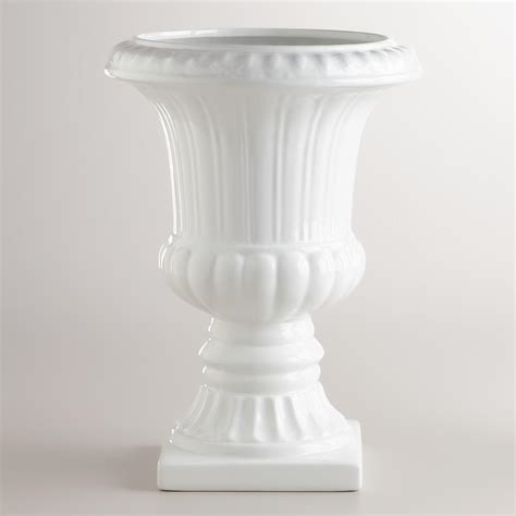 White Large Vase by Large White Urn Vase World Market