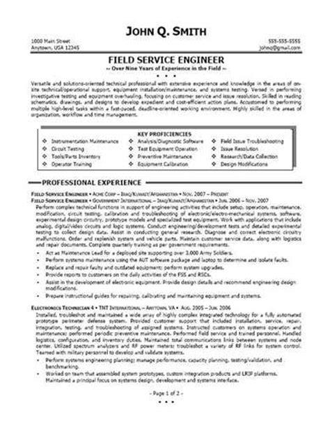 Mwd Field Engineer Sle Resume by Field Service Engineer Resume Source