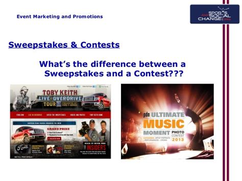 Difference Between Sweepstakes And Contest - marketing and pr webinar 2