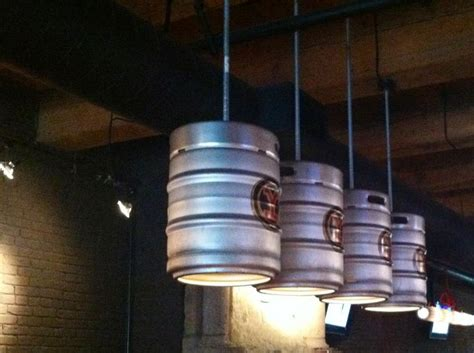 man cave light fixtures repurposing keg barrels into light fixtures do it
