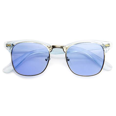 colorful sunglasses colorful half frame semi rimless horn rimmed color tint