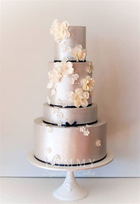 Silver Wedding Cakes Archives   Bouquet Wedding Flower