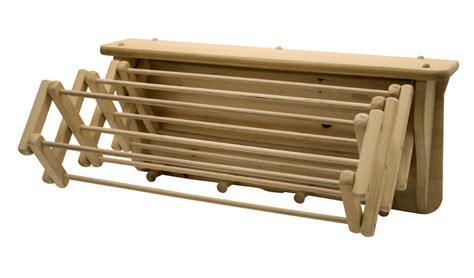 Clothesline Rack by Expandable Wall Mounted Wooden Drying Rack Clotheslines